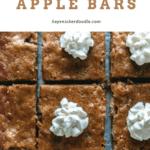 Overhead shot of sliced Sour Cream Apple Bars.